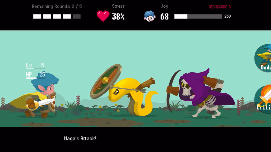 Takeshi and Hiroshi screenshot: Hiroshi's character faces off against multiple monsters.