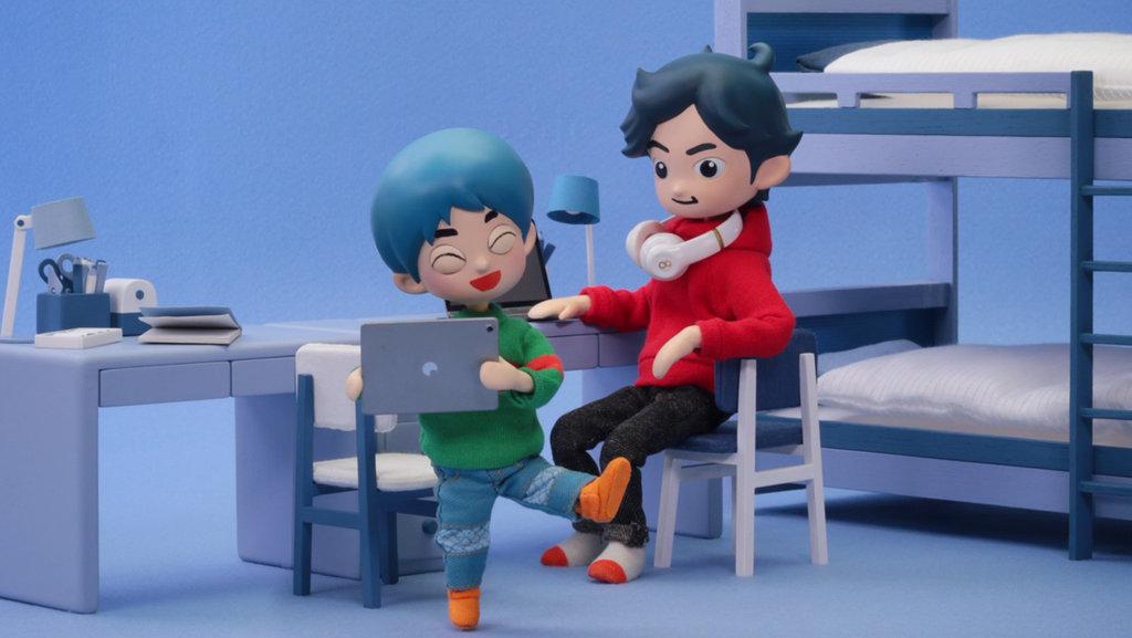 Takeshi and Hiroshi screenshot: Takeshi wants Hiroshi to enjoy Mighty Warrior.