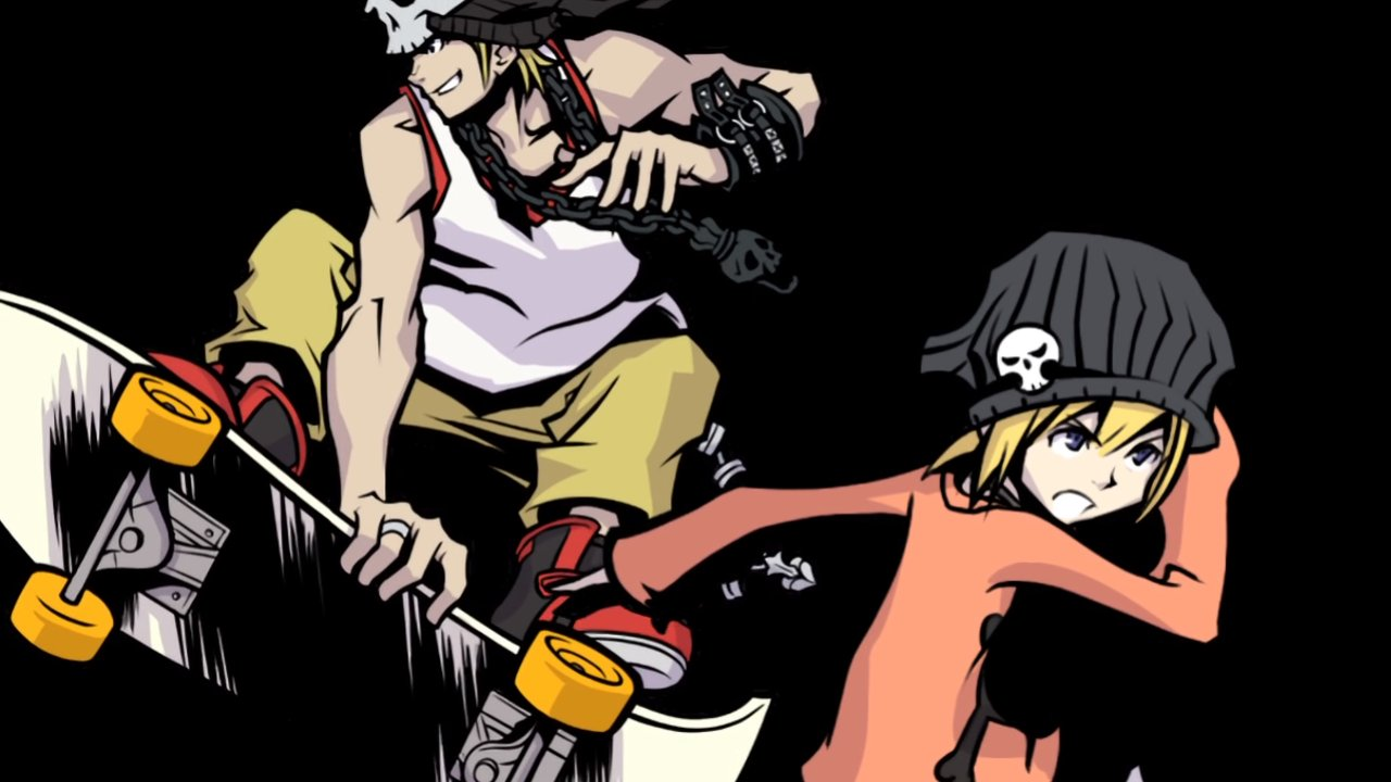An image of Beat and Rhyme from The World Ends with You appearing like they are both ready to engage in battle.
