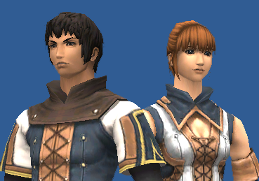 Everquest screenshot: Male and female characters in Everquest