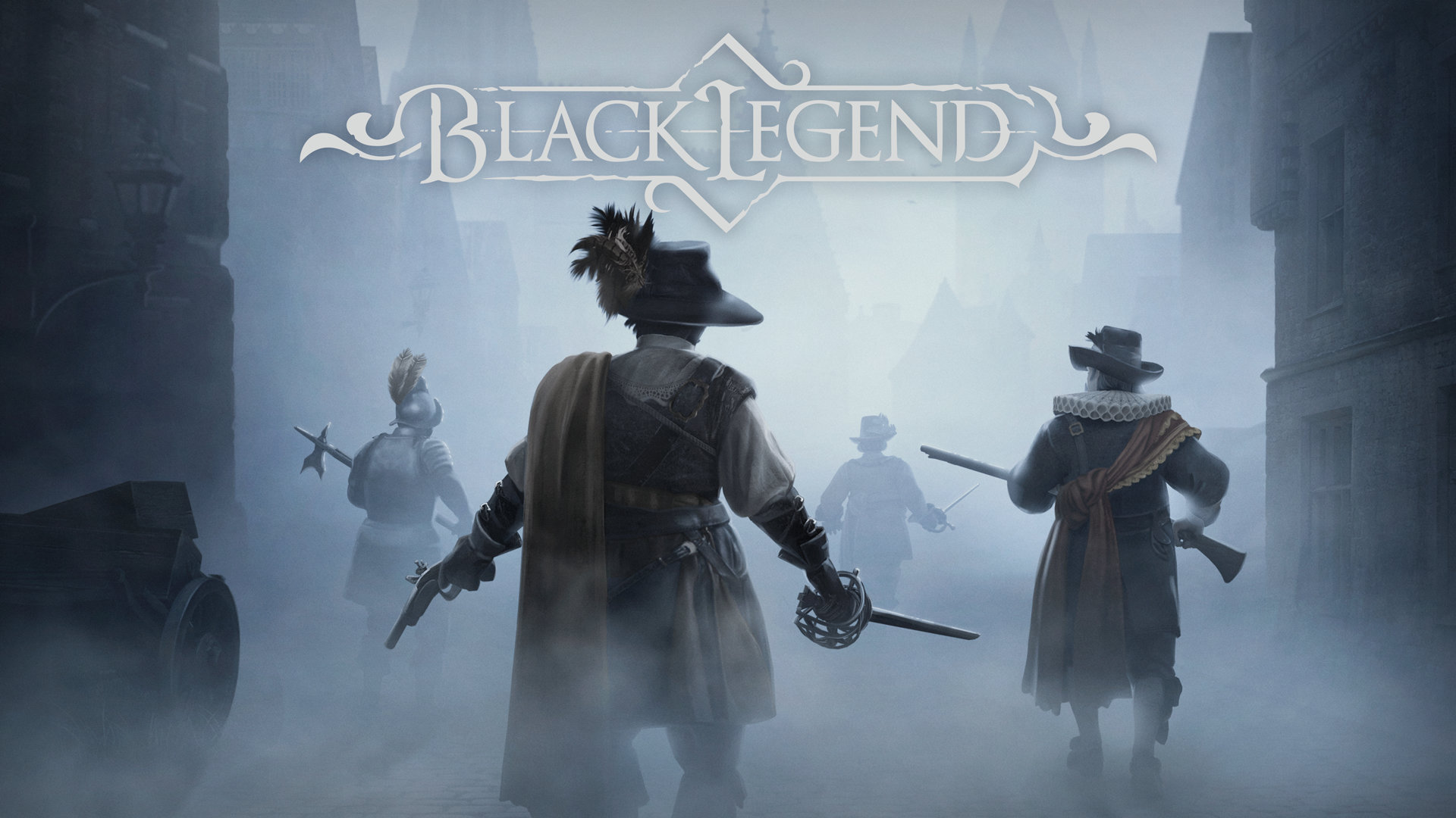 Black Legend Two soldiers roaming through the fog