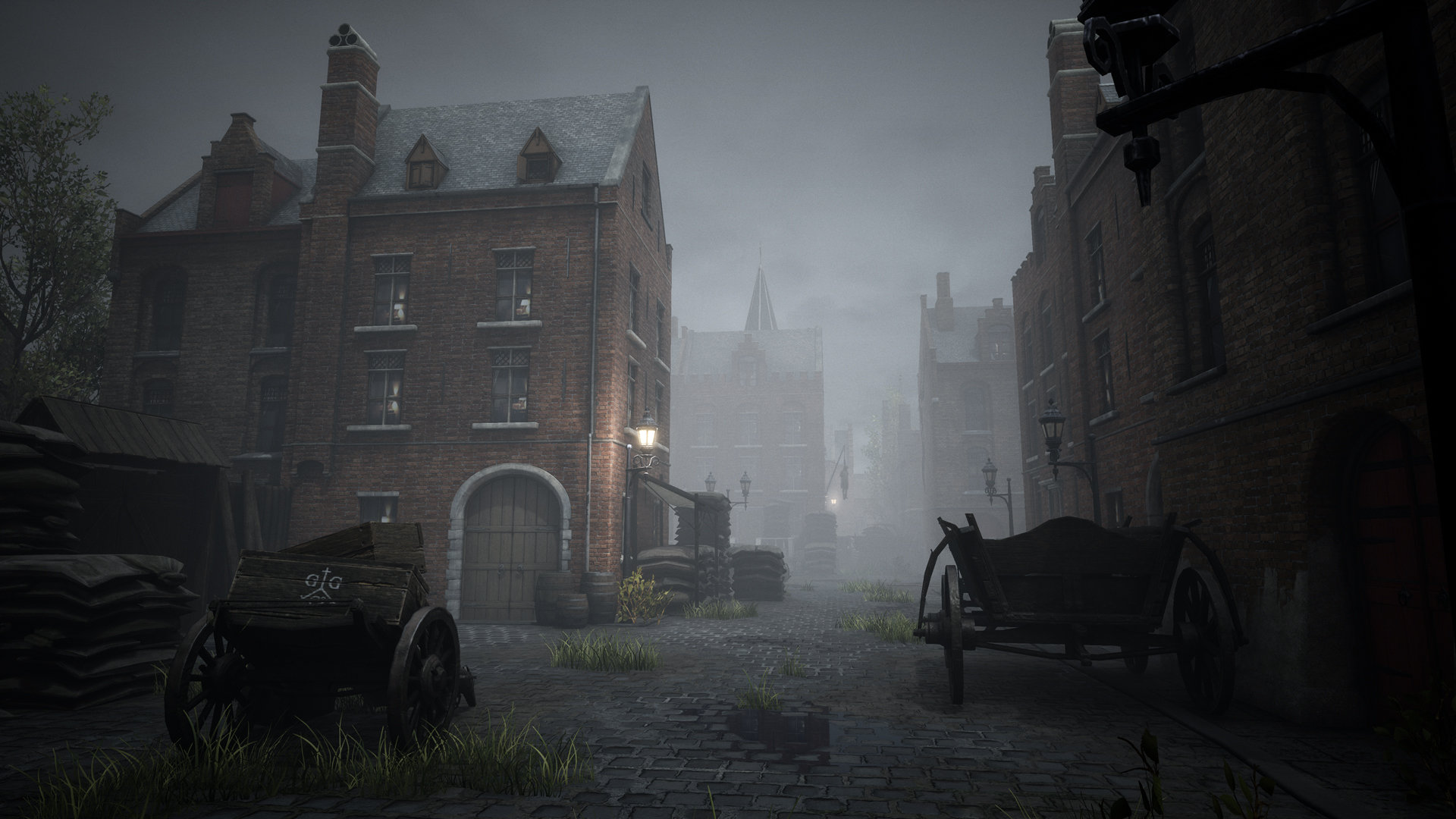 A foggy medieval city in Black Legend.