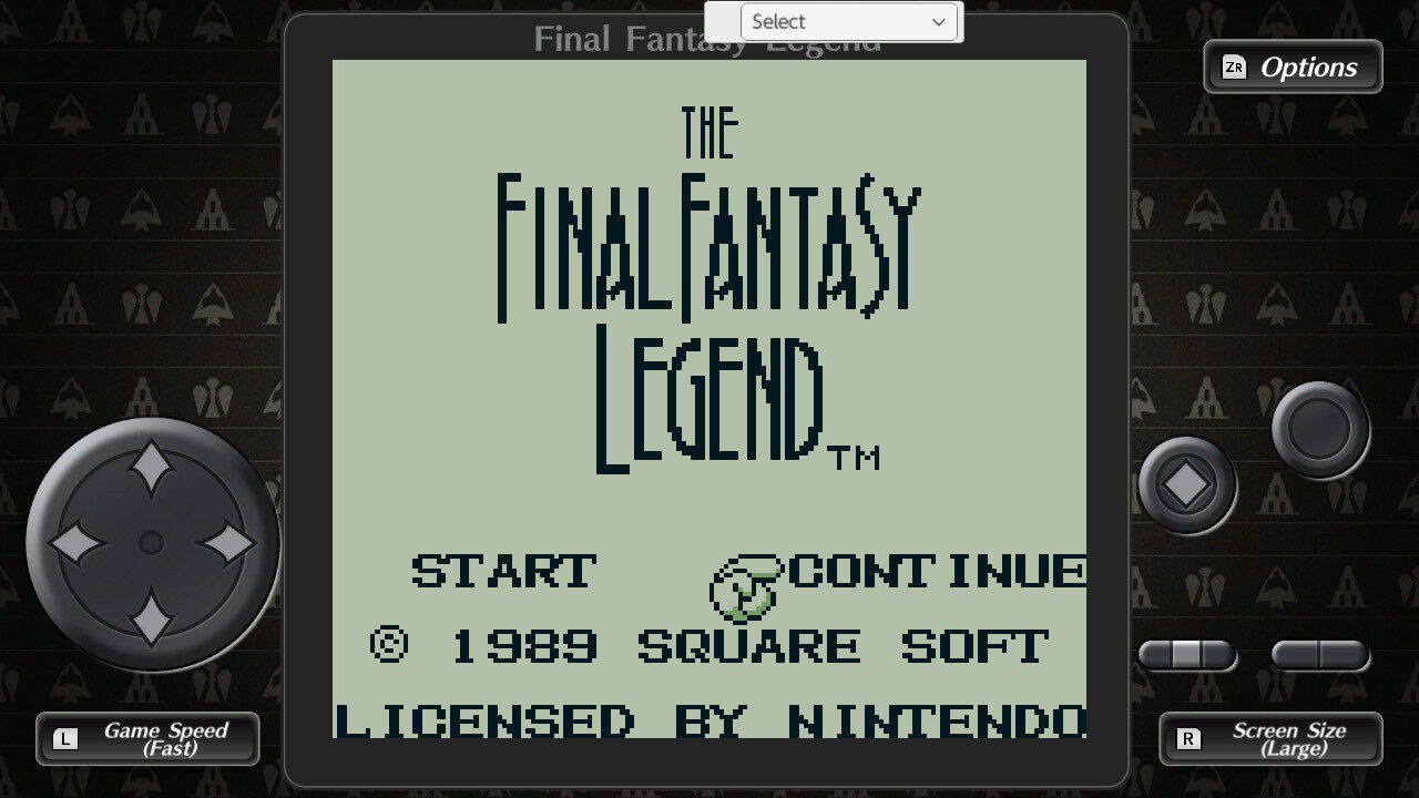 Final Fantasy Legend Title Screen