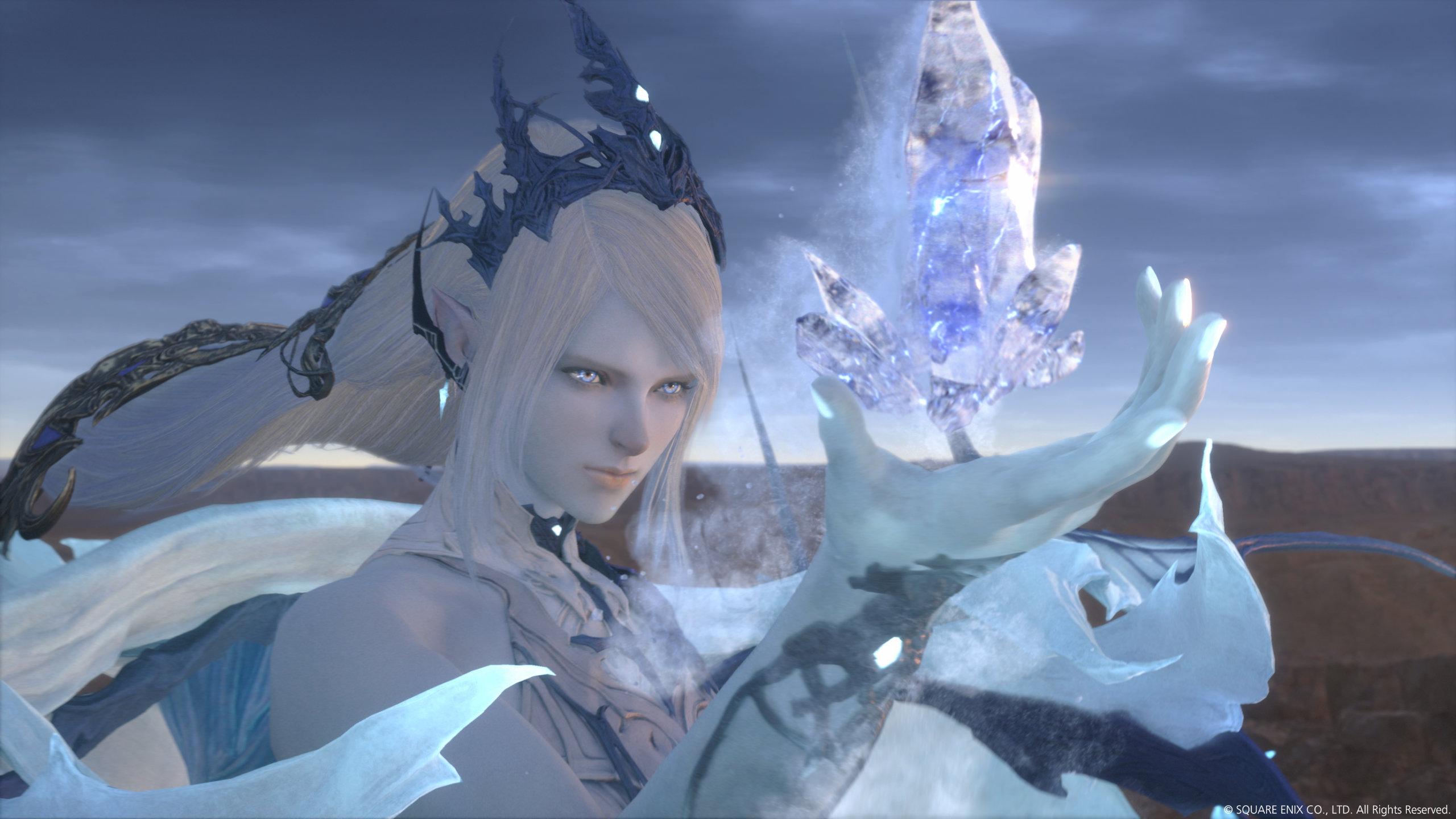 Screenshot From Final Fantasy XVI Featuring Shiva Eikon