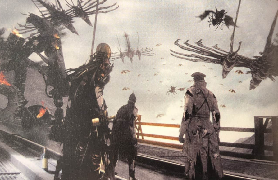 Artwork From Final Fantasy XV The Dawn Of The Future Featuring Aranea Biggs And Wedge