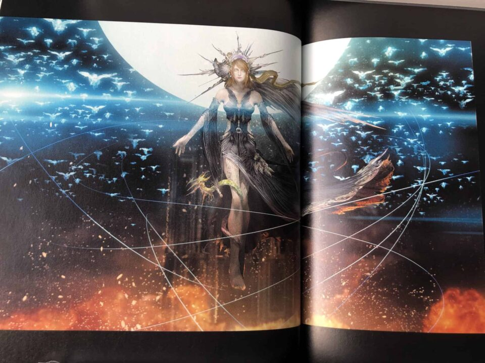Artwork Of Scourge Goddess Lunafreya From Final Fantasy XV Dawn Of The Future