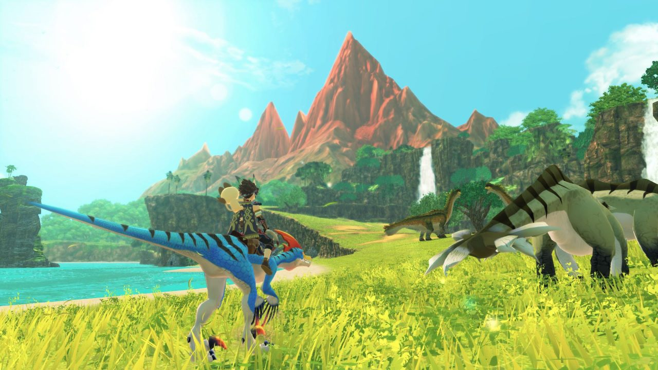 Traversing the world in Monster Hunter Stories 2: Wings of Ruin.