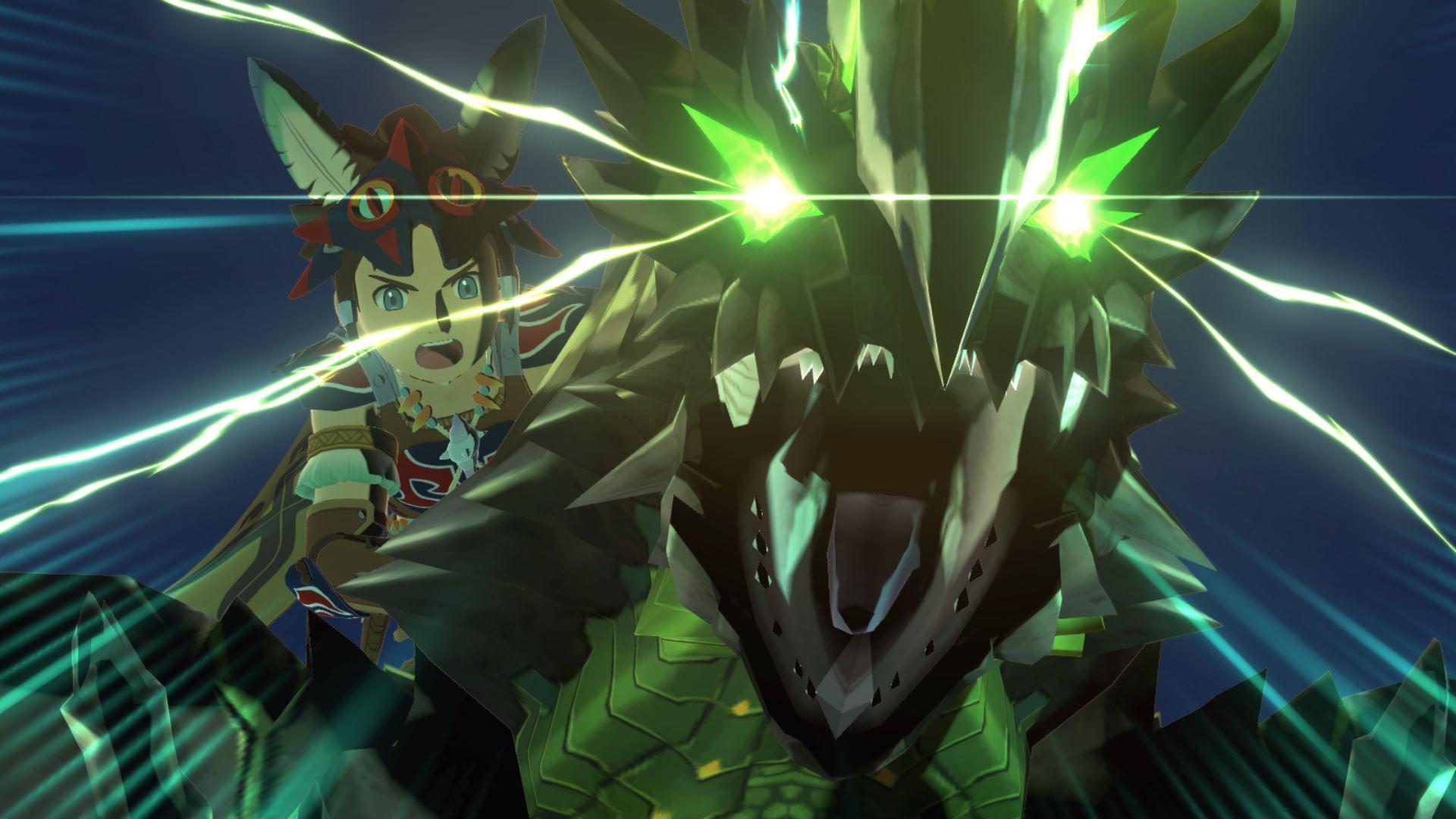 Riders take to battle on their favorite Monsties in Monster Hunter Stories 2: Wings of Ruin.
