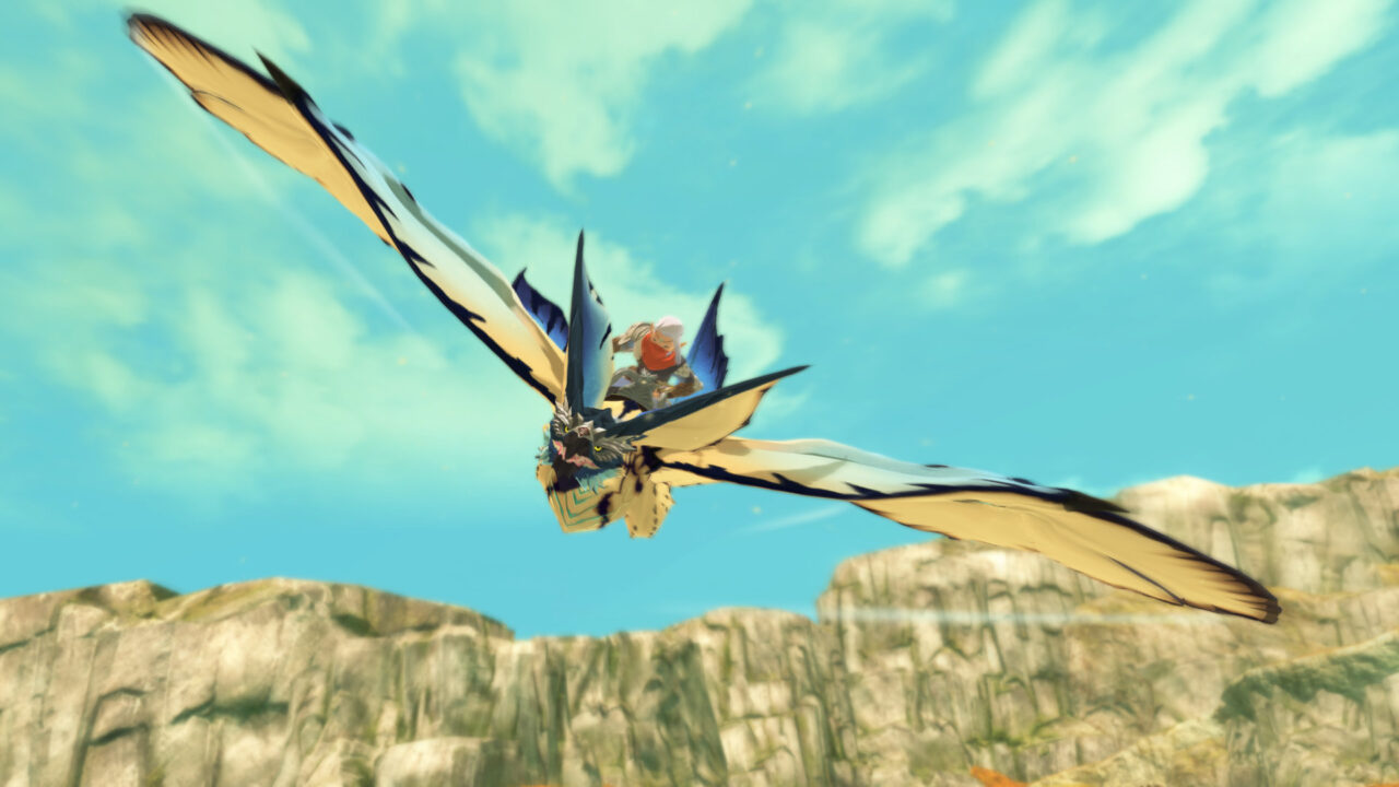 Screenshot From Monster Hunter Stories 2 Featuring A Flying Rathalos