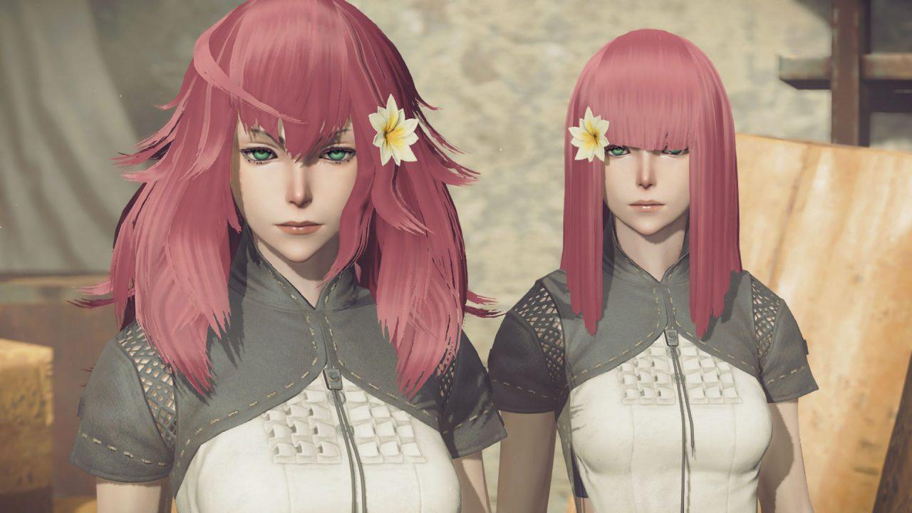Screenshot of twins Devola and Popola in NieR: Automata