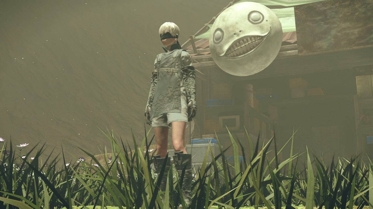 Screenshot From Nier Automata Featuring Emil And 9S