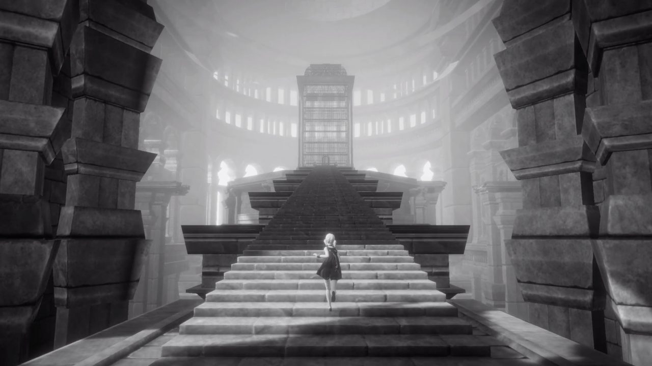 NieR Reincarnation Screenshot of Ascending a Staircase