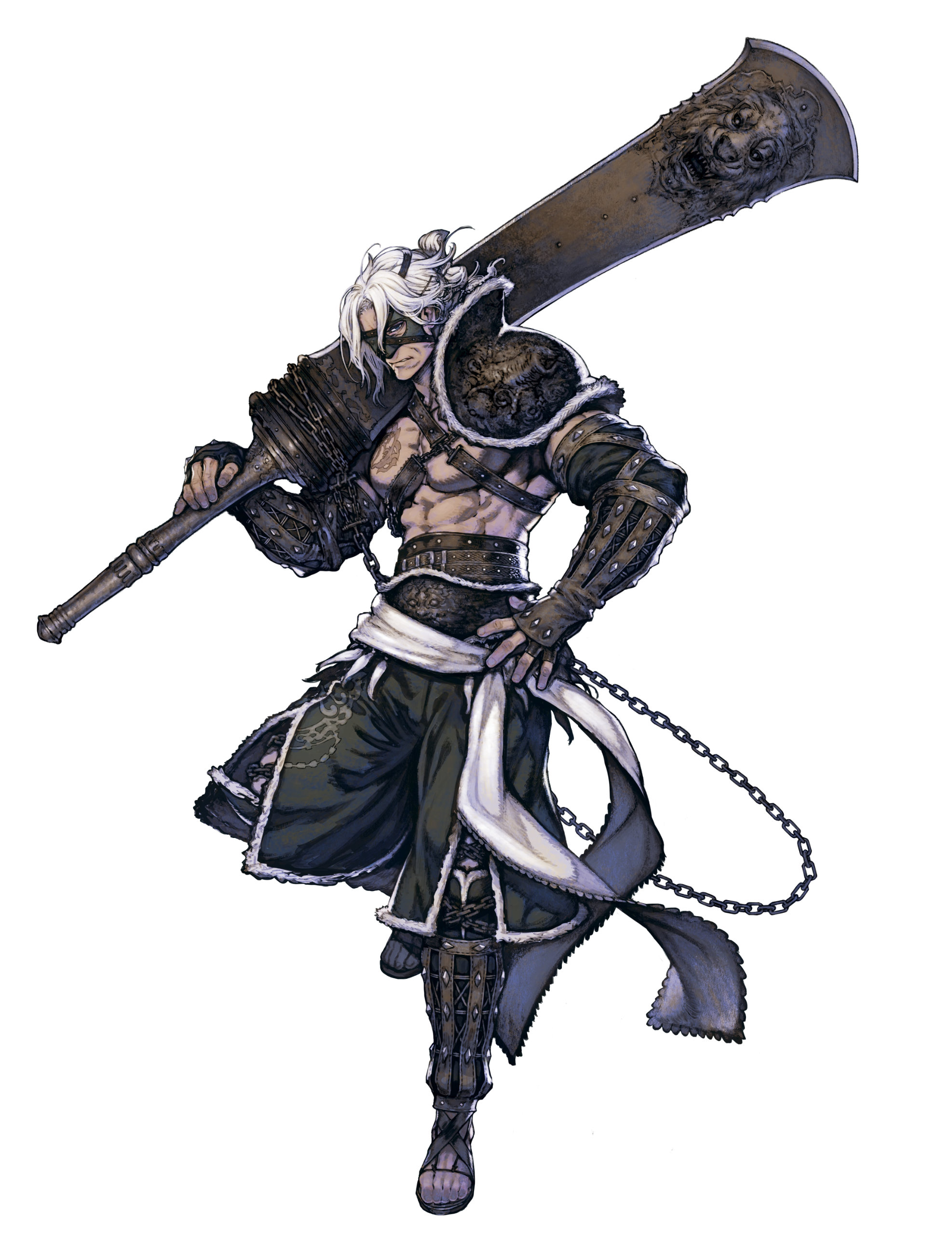 Artwork Of Dad Nier From NieR Replicant Recycled Vessel Content