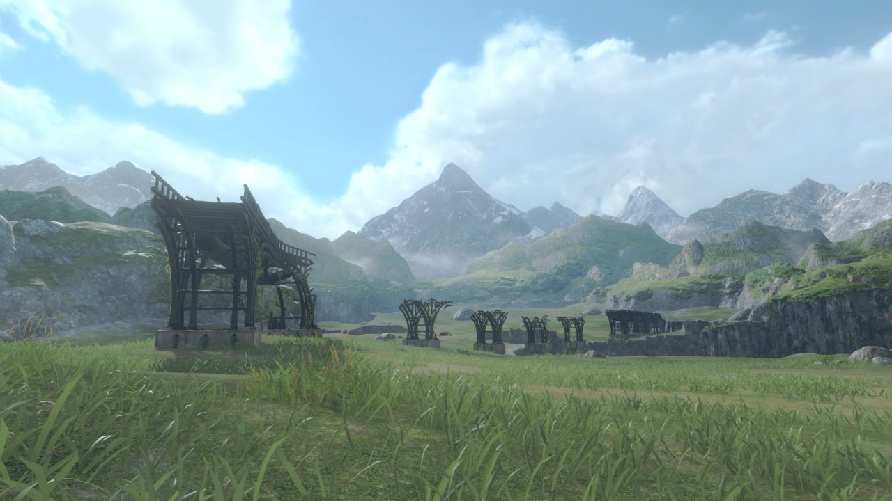 The open fields of NieR Replicant's haunting world.
