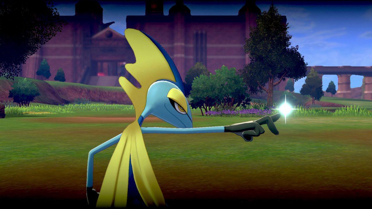 Inteleon fires a nice shot in Pokémon Sword & Shield.