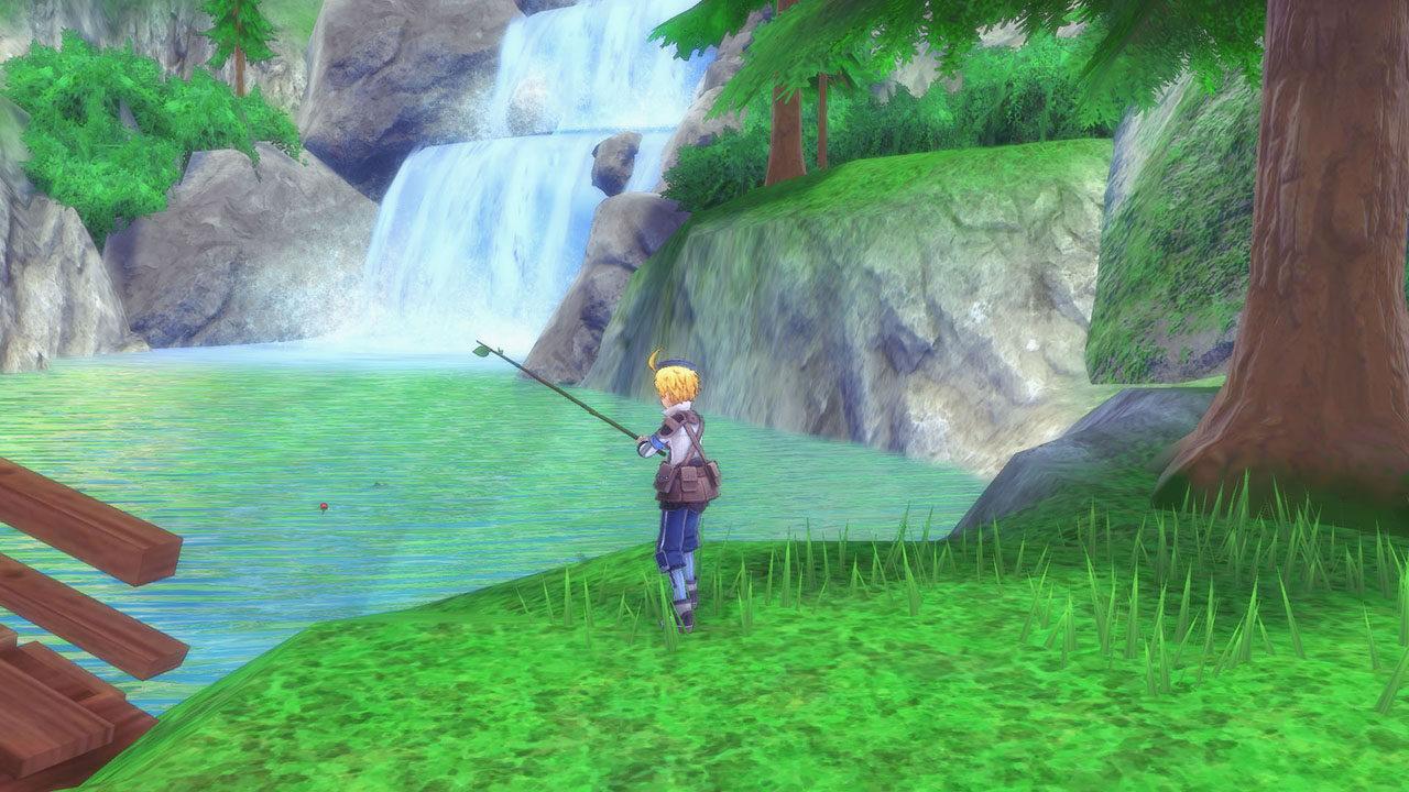 Screenshot From Rune Factory 5 Featuring Fishing