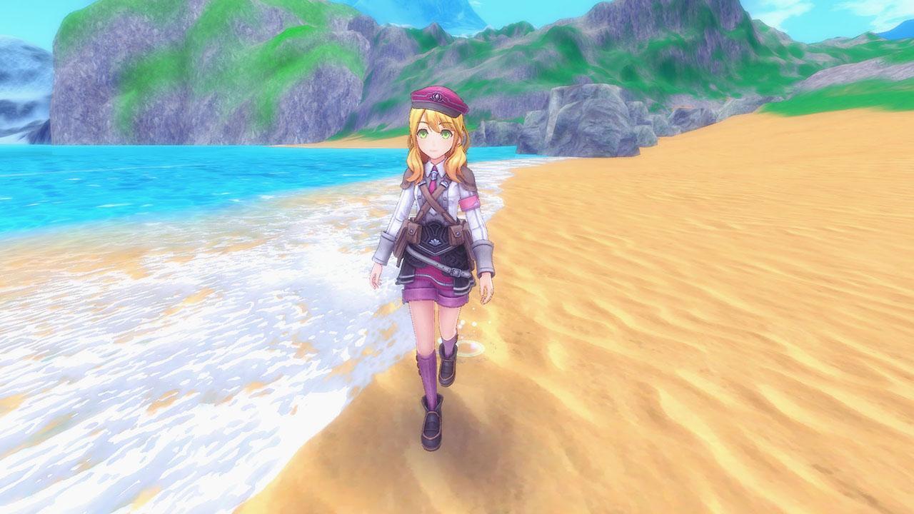 Screenshot From Rune Factory 5 Featuring A Girl On The Beach