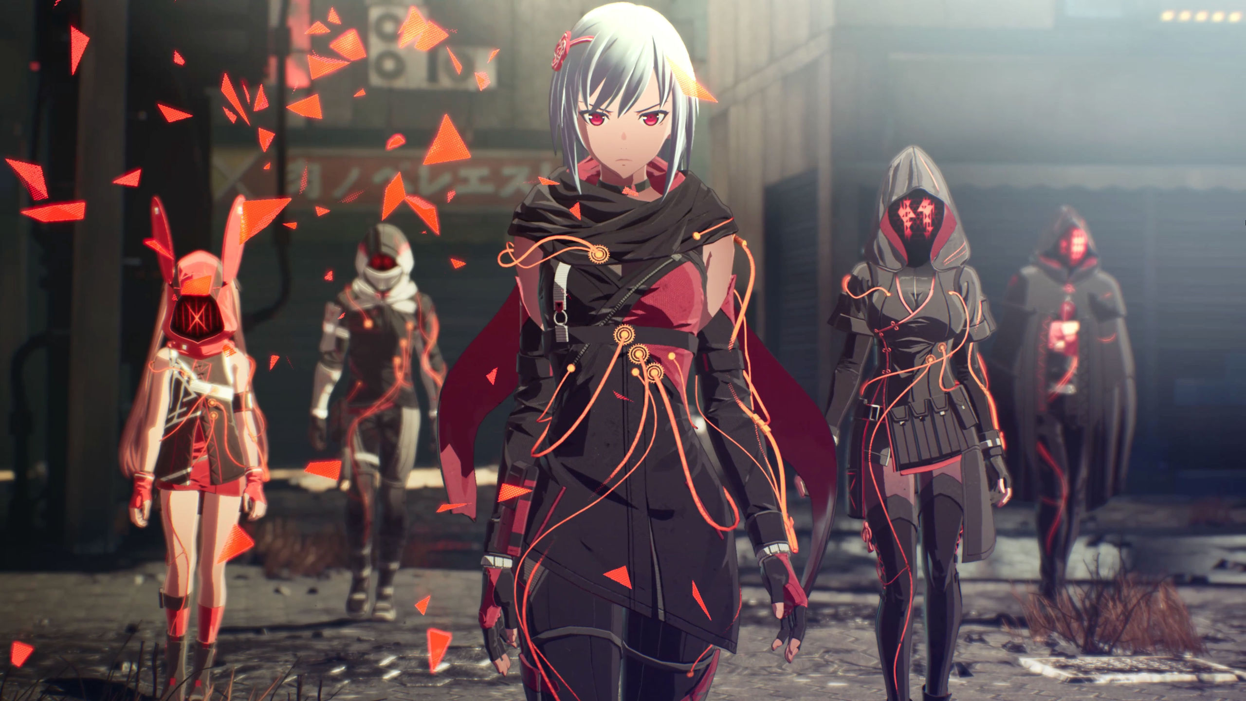 Screenshot from Scarlet Nexus Showing The Main Cast