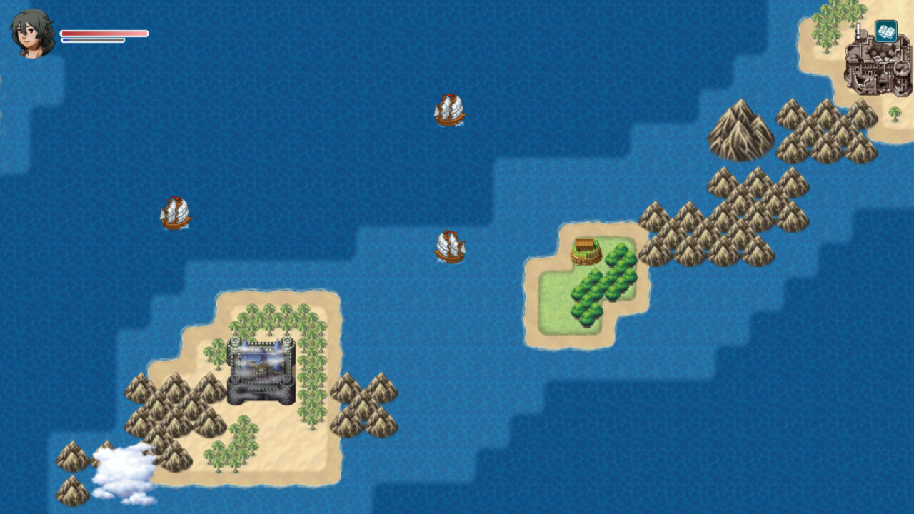 Exploring a classic 2D-style overworld in Tales Of Evenfall.