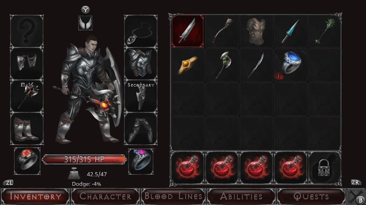 Customization options as seen in Vampire's Fall: Origins.