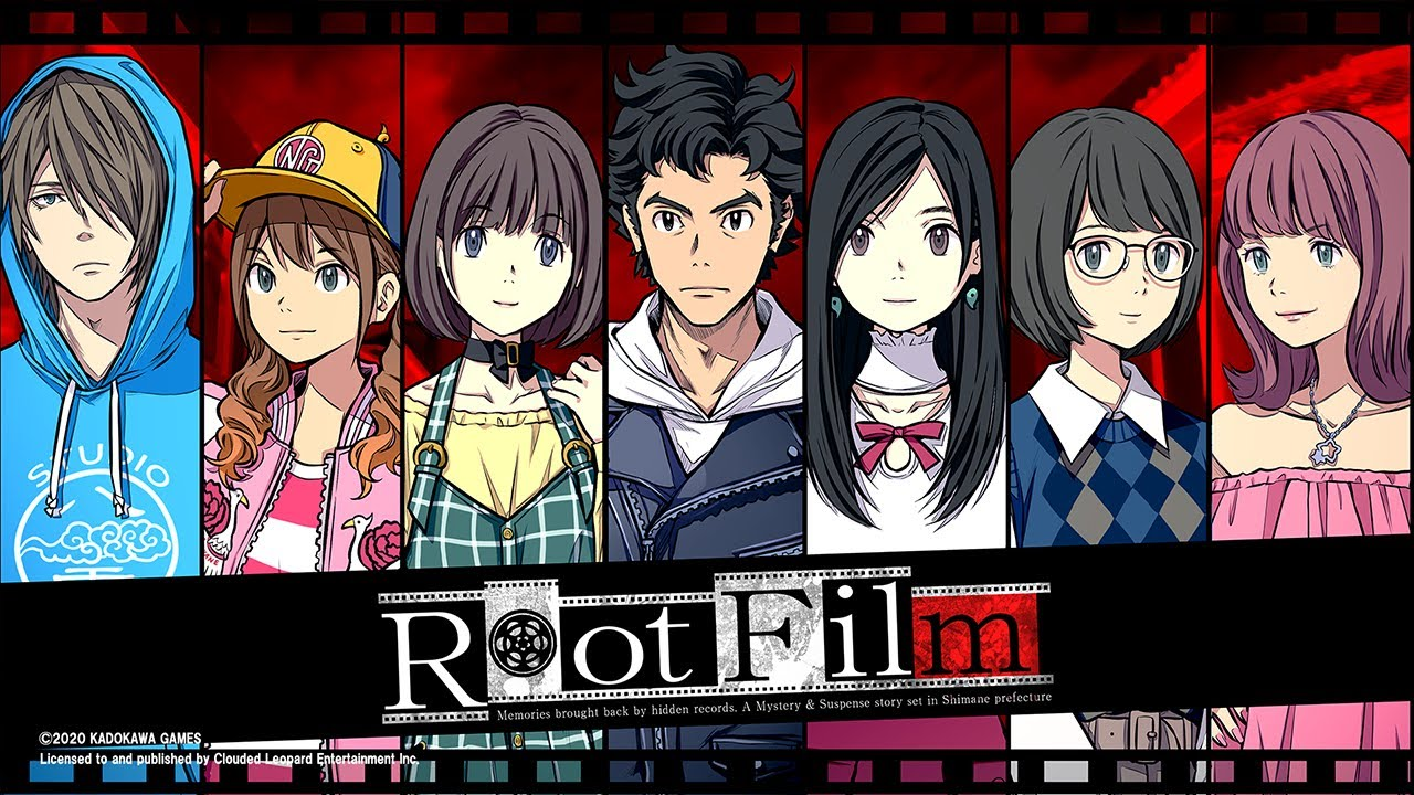 The lead characters of Root Film drawn side-by-side.