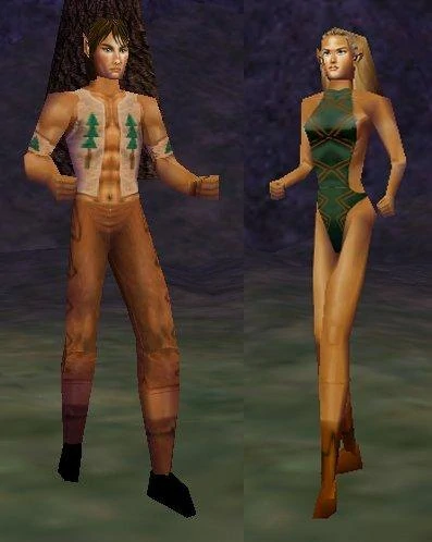 Everquest screenshot: Wood Elves of Everquest