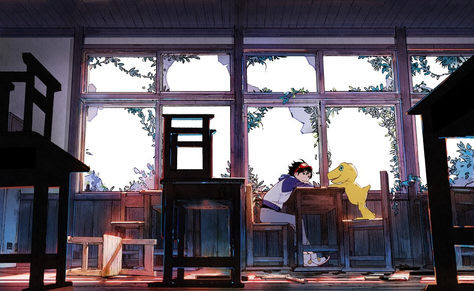 Key Art From Digimon Survive Featuring Protagonist And Agumon