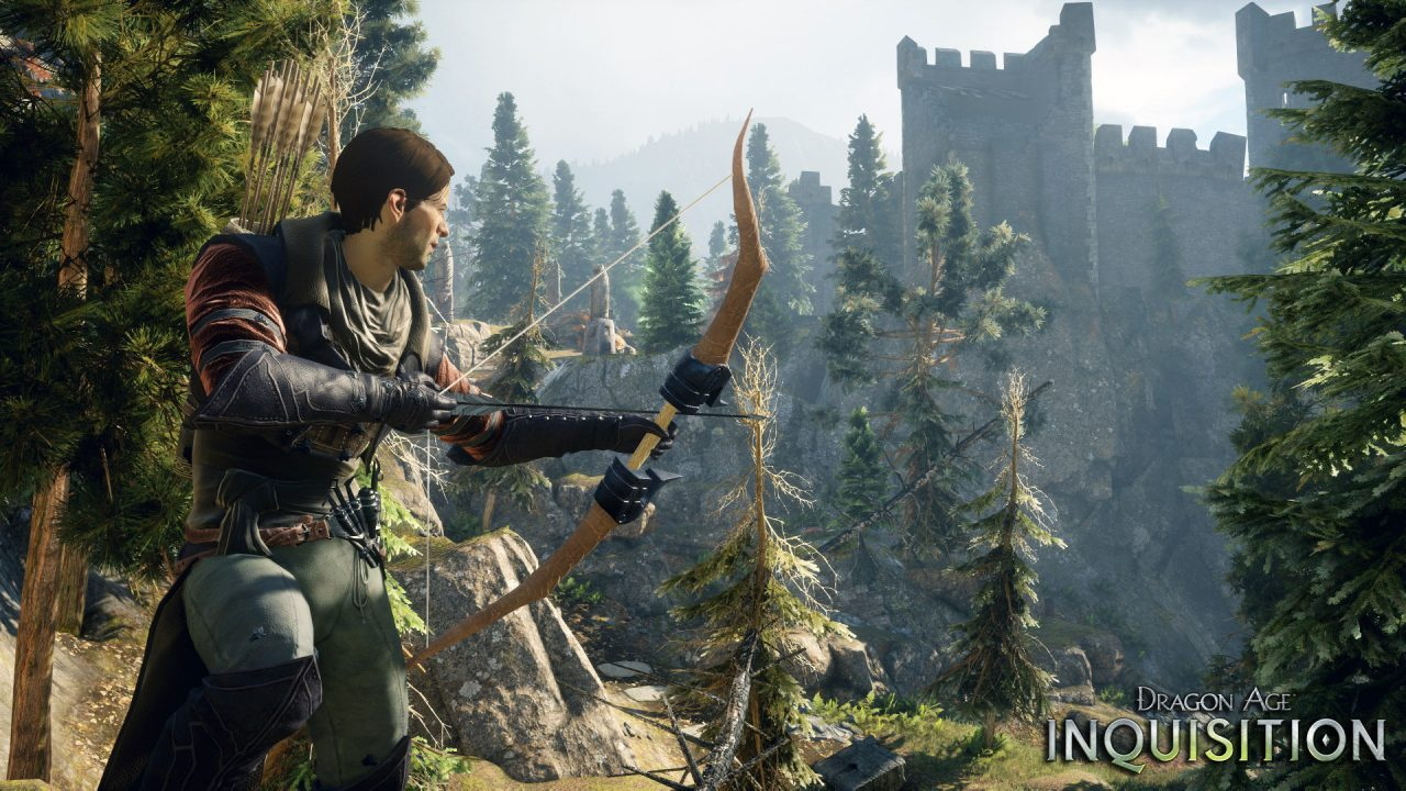 Screenshot From Dragon Age Inquisition Featuring A Guy With A Bow