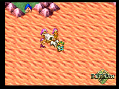 Crossing the desert with your wagon in Dragon Quest 4