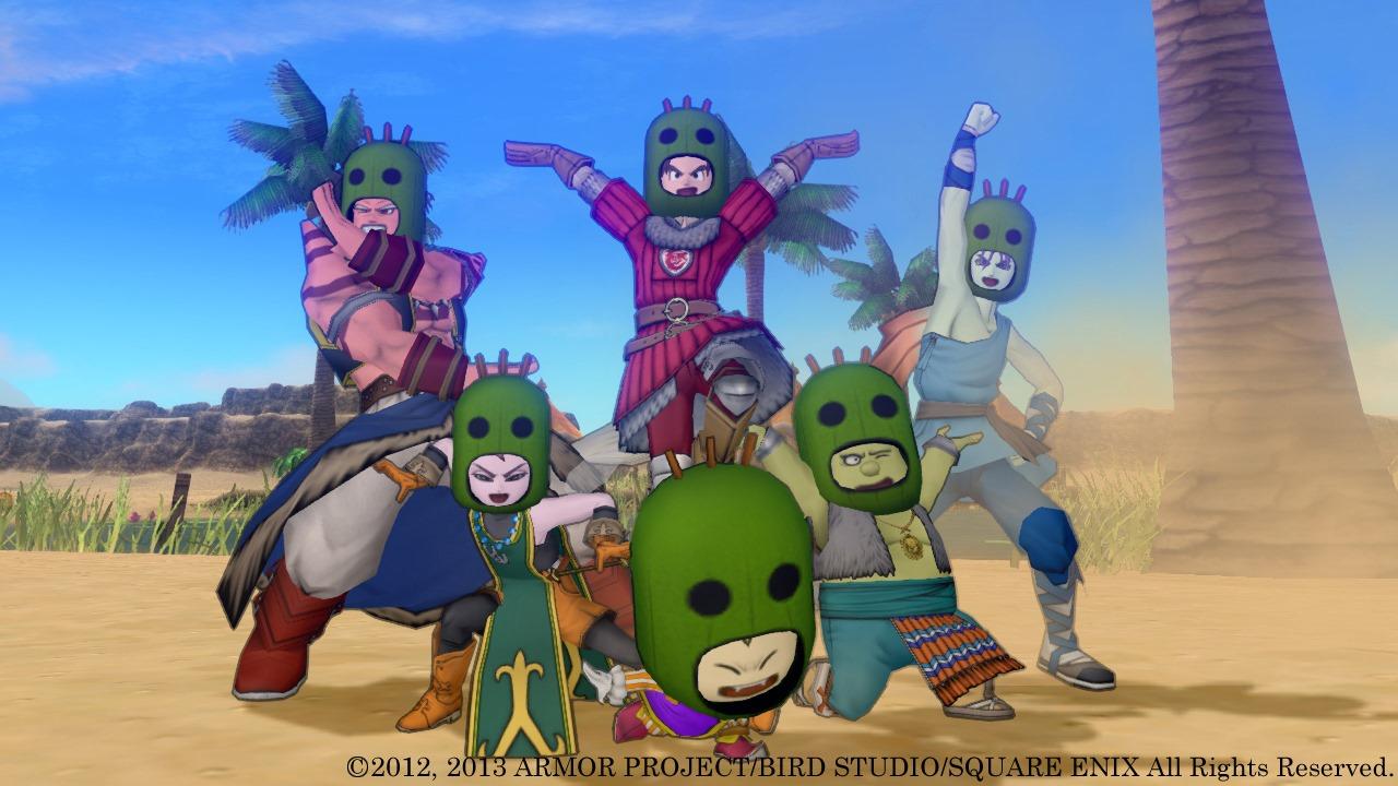 Multiple characters Dragon Quest X Screenshot Desert