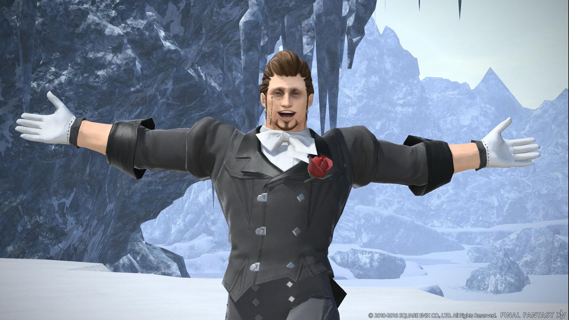 Manderville is behaving appropriately Manderville in Final Fantasy XIV.