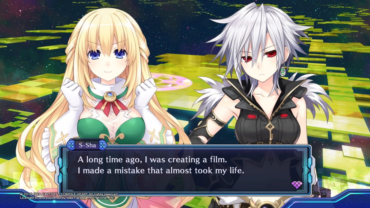 Dialogue scene with Vert and S-Sha, referencing the Spirits Within movie.