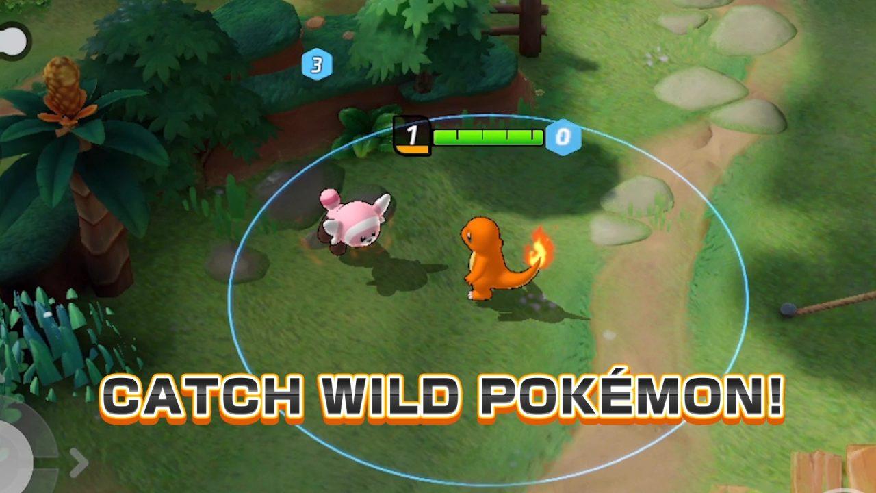 Pokemon Unite Catching Wild Pokemon