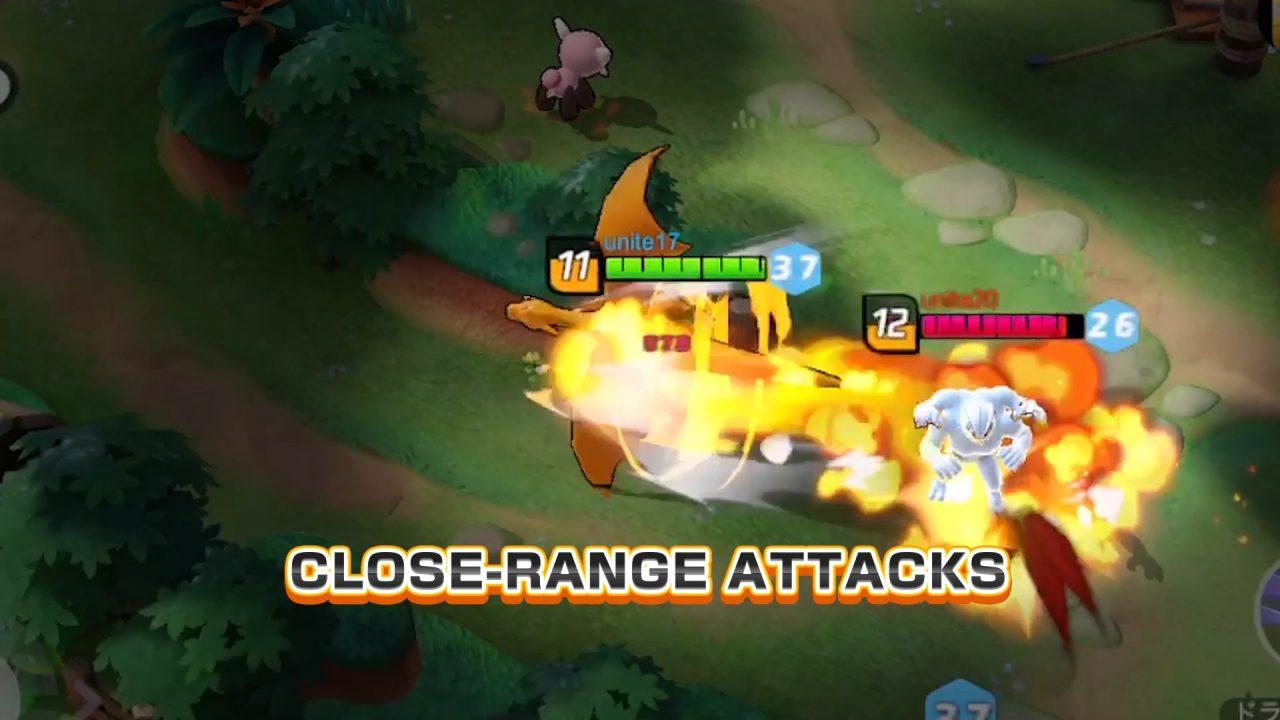 Pokemon Unite Close Range Attacks