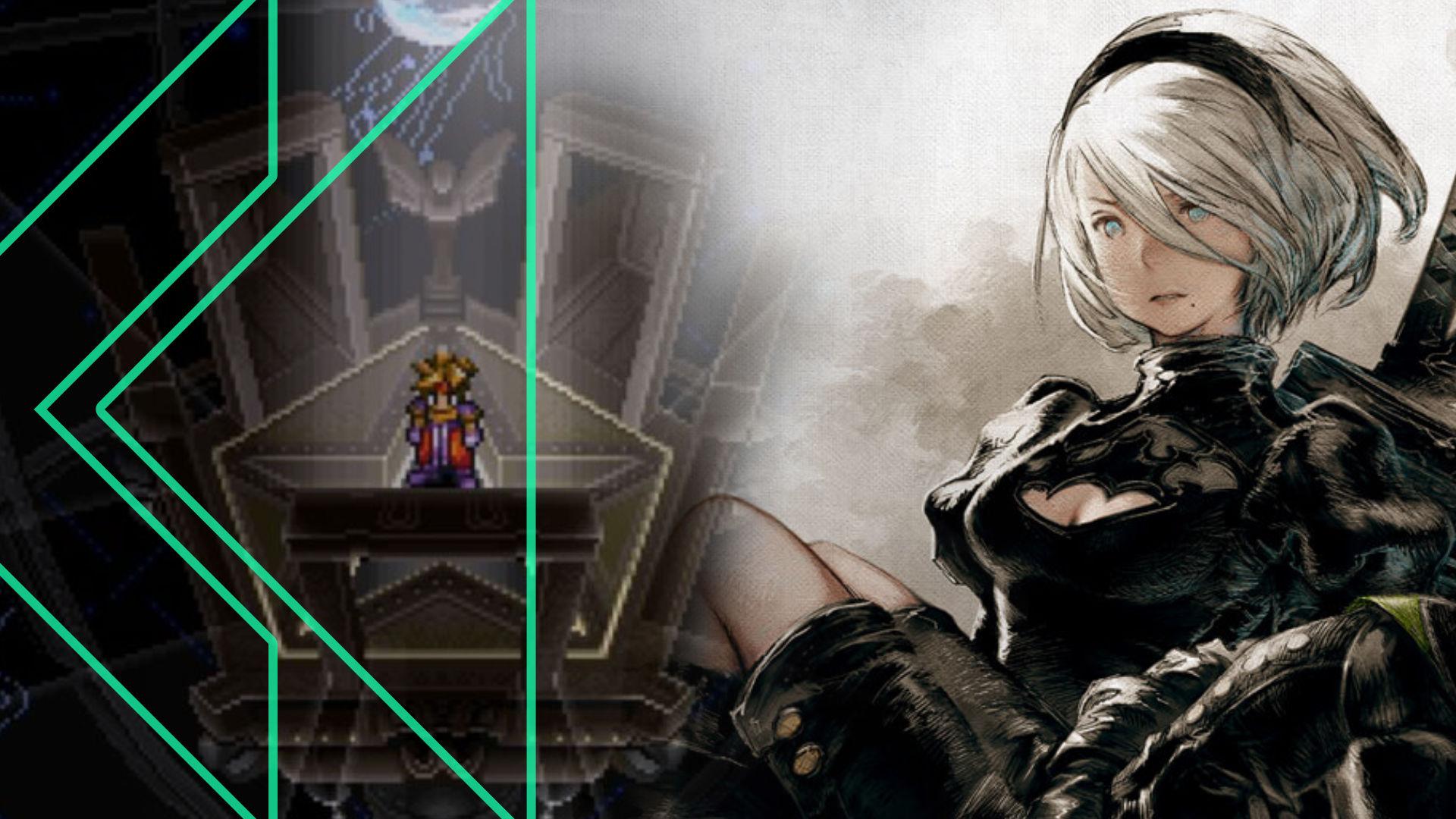 Retro Encounter 257 graphic featuring Terranigma and NieR Automata artwork