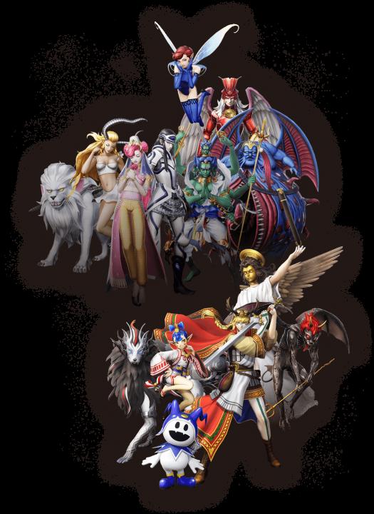A group of demons in Shin Megami Tensei V