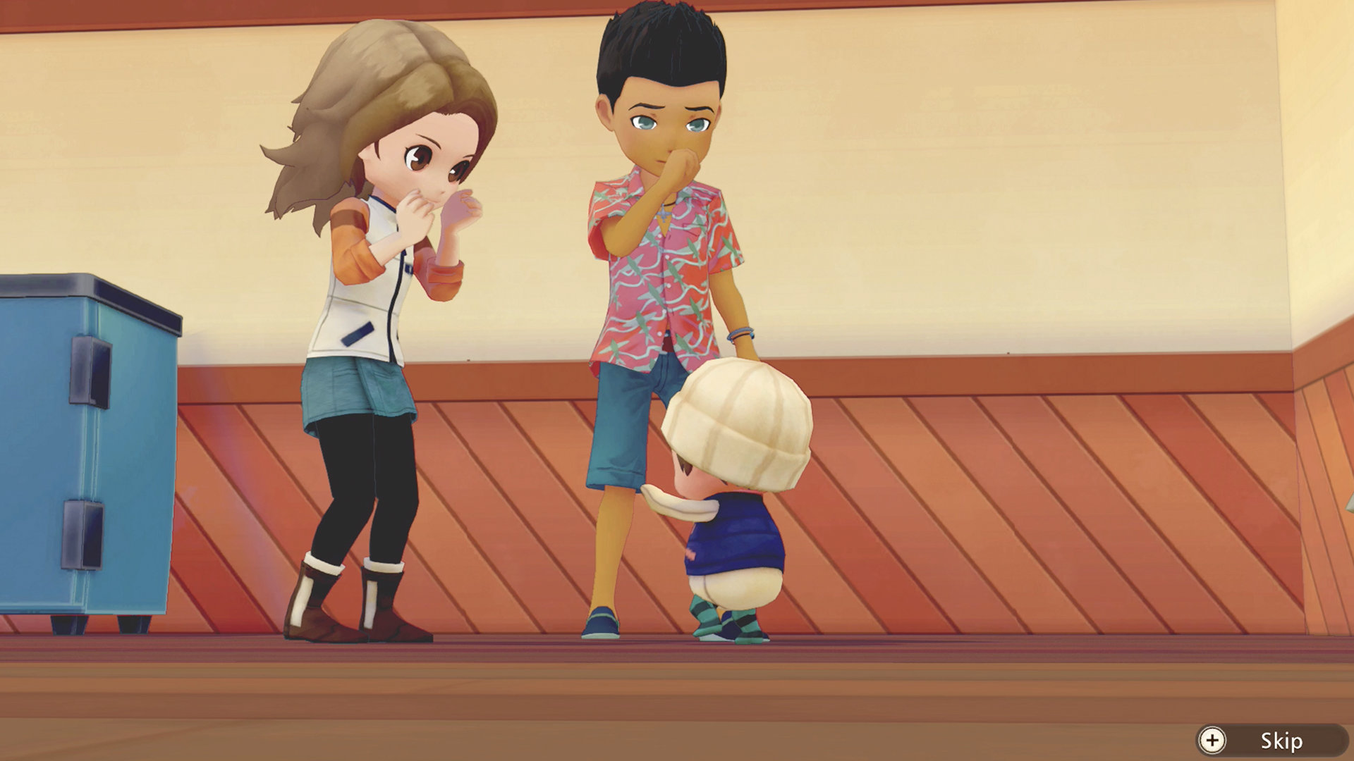 Screenshot From Story Of Seasons Pioneers Of Olive Town of parents with a child