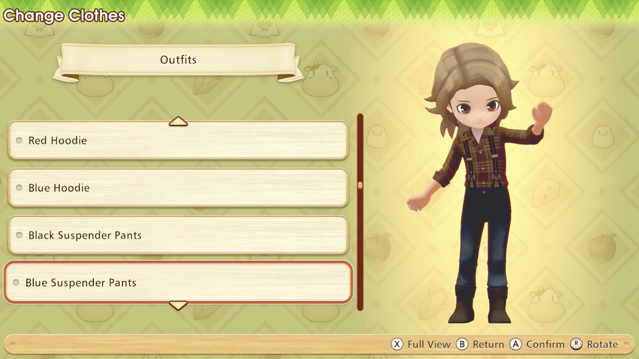 Character customization in Story of Seasons: Pioneers of Olive Town.