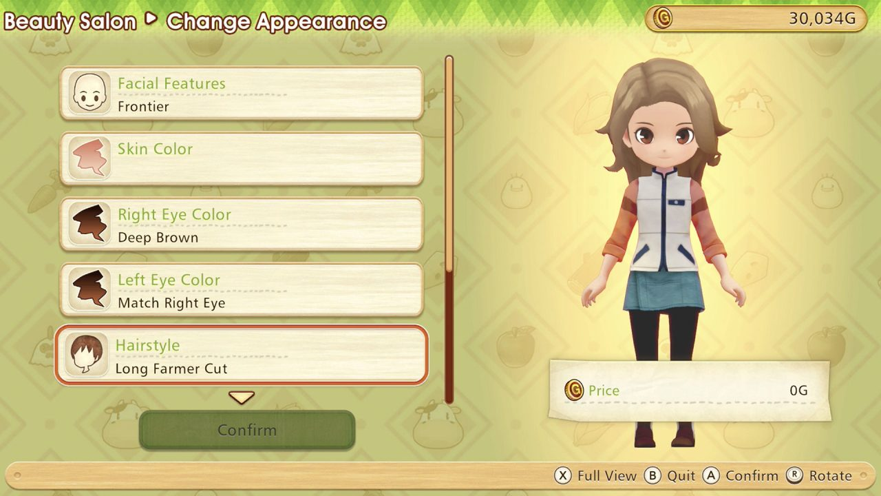 Interacting with a character in Story of Seasons: Pioneers of Olive Town.