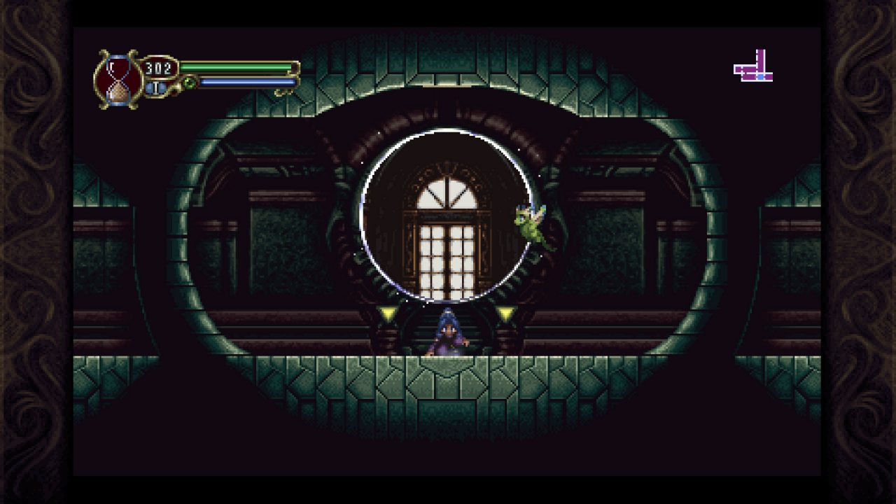 Lunais resting in the middle of the screen in Timespinner.