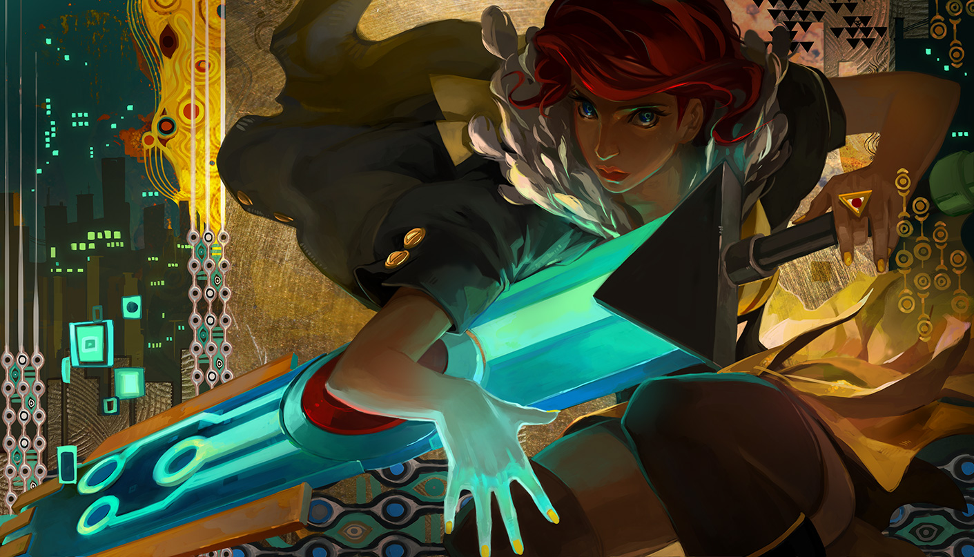 Red flourishes The Transistor