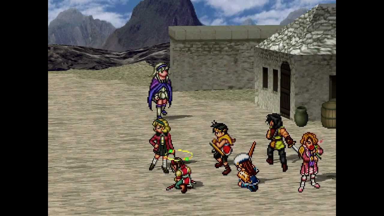The party faces off with Sierra in a desert town.