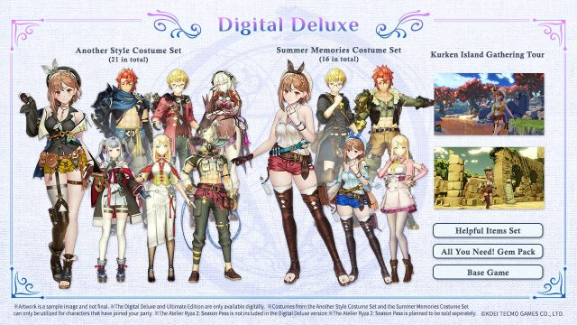 Atelier Ryza 2 Lost Legends & the Secret Fairy Cover Art (Digital Deluxe)