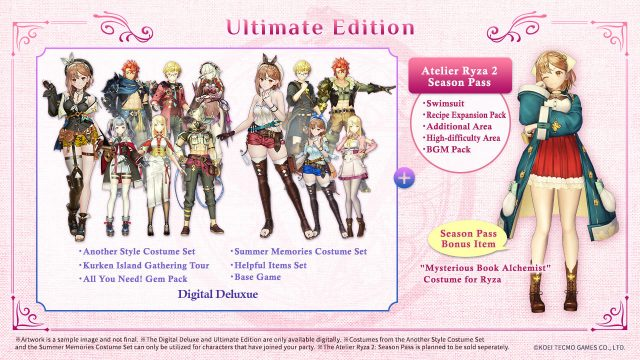 Atelier Ryza 2 Lost Legends & the Secret Fairy Cover Art (Ultimate Edition)