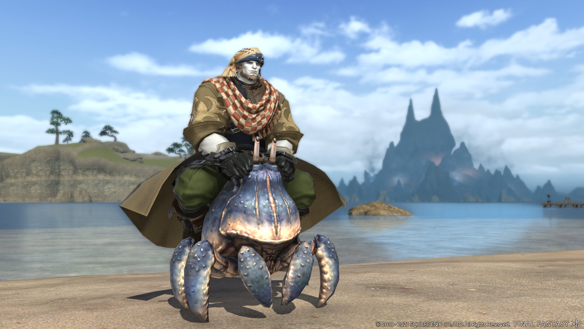 Screenshot From Final Fantasy XIV Shadowbringers Patch 5.41 Crab Mount RAVE