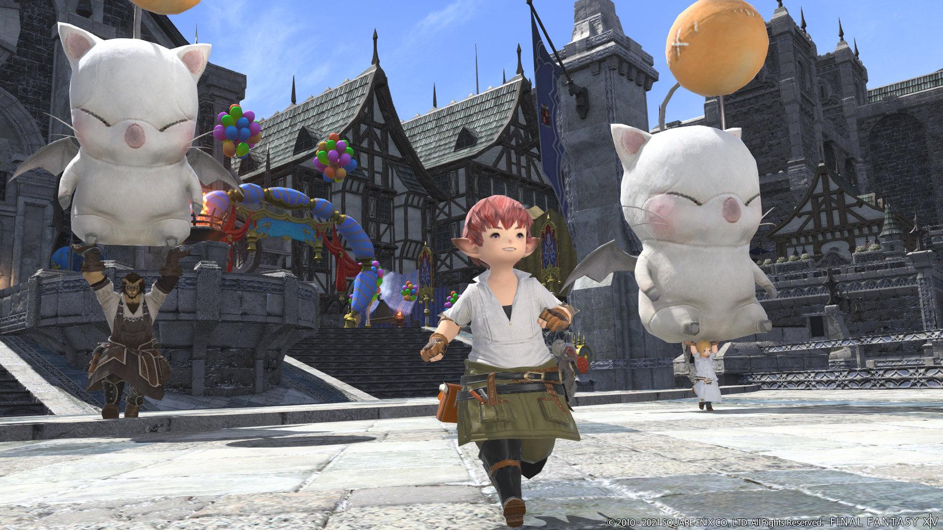 Moogles in Final Fantasy XIV
