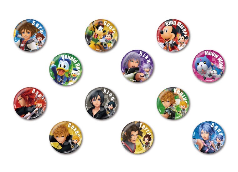 Badges From The Kingdom Hearts Cafe
