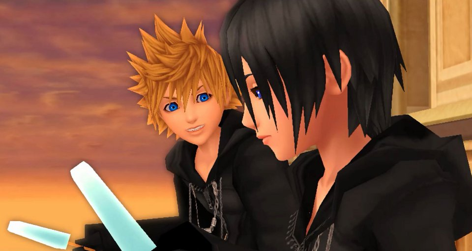 Friends discuss their feelings for the future in Kingdom Hearts HD 1.5 ReMIX.