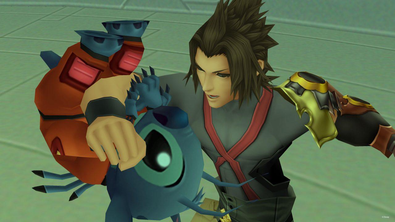 Two men bond deeply in Kingdom Hearts HD 2.5 ReMix.