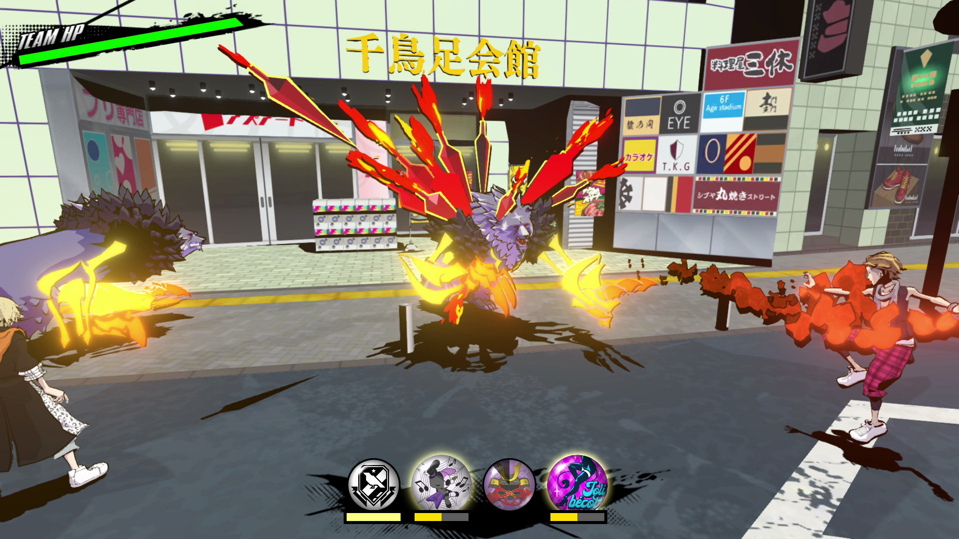 Fret attacks with his Classical Cacophony Dynamite Darts in Neo: The World Ends WIth You.